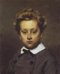 portret van een jongetje by edouard agneessens