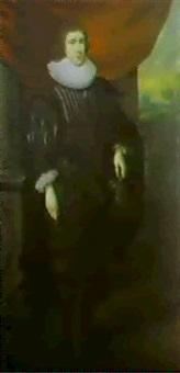 portrait en pied d'un gentilhomme by abraham van blyenbergh