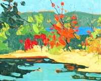 september lake shore by arthur george lloy