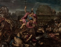 achill schleift hektors leichnam um die mauern von troja (collab. w/horazio farinato) by paolo farinati