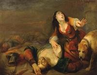 femme éplorée by gustave (egidius karel g.) wappers