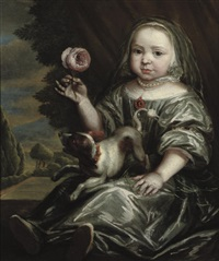 portrait of a girl in a silver costume by jan van noordt