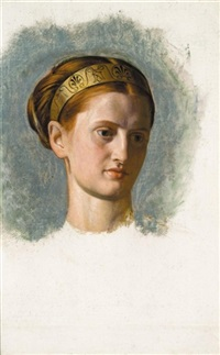 portrait of a young woman (isabella waugh?) by william holman hunt