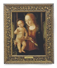 madonna and child holding a finch by biago d'antonio da firenze