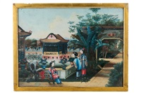 raffiguranti scene di quotidianita (2 works) by anonymous-chinese (qing dynasty)