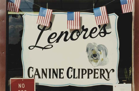 sans titre, stars and stripes, (canine clippery), ny by martin parr
