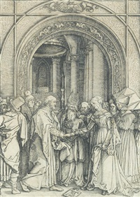 betrothal of the virgin, from the life of the virgin by albrecht dürer
