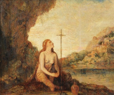madeleine en prière by gustave moreau