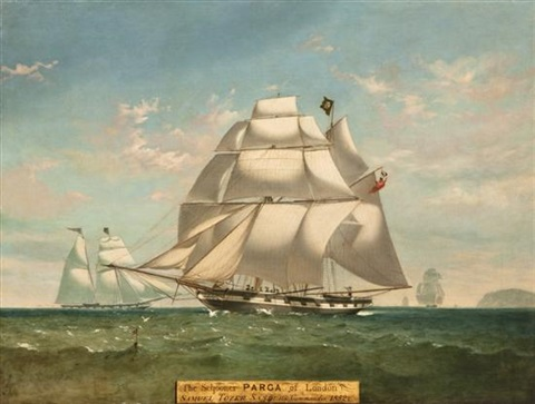 the schooner parga of london by w dunnage