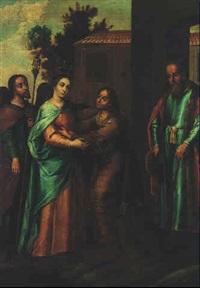 el encuentro de la virgen maria y santa isabel by juan de correa da vivar