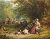 gypsy encampment by john anthony puller