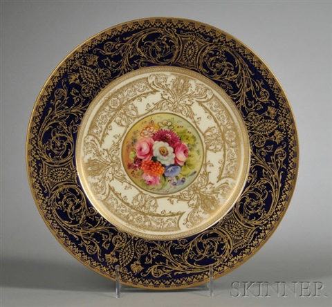 service plates (decorated by ernest phillips) (set of 12) by royal worcester & Service plates decorated by Ernest Phillips set of 12 by Royal ...