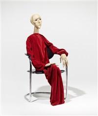 ohne titel (sitzende) by eva aeppli
