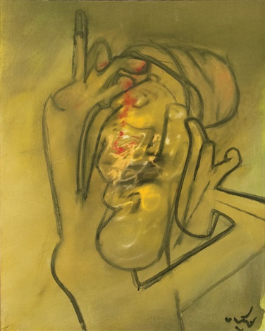 surrealist head by roberto matta