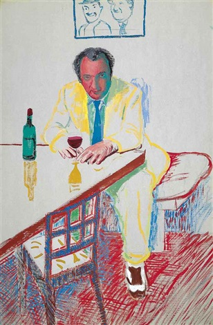 portrait of peter langan in los angeles by david hockney