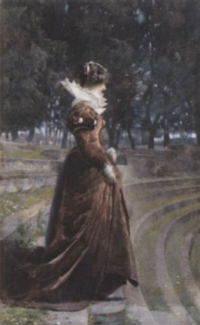 a lady in an ancient theatre by josé tapiro y baro