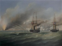 the bombardment of odessa, 22nd april 1854 by francis hustwick