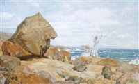 maidens on a rocky shore by markus frederik steen gronvold