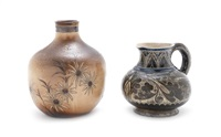 two stoneware items by martin brothers