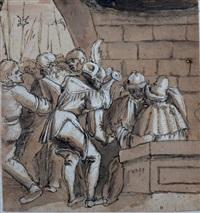 pilate se lavant les mains by a. aldofer