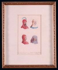szkice postaci w strojach historycznych by henri rodakowski