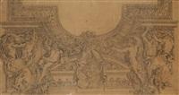 relevé de stucs de la galerie d'appollon de le brun by eugène delacroix