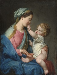 the madonna and child by domenico corvi