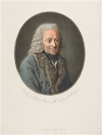 bildnis des alten voltaire (after garnerey) by pierre-michel alix