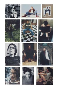 self-portraits 1990-1998 (12 works) by sarah lucas