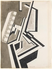 untitled vorticist composition by frederick etchells