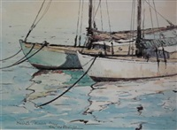 yachts, kalk bay by george william pilkington