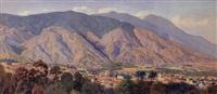 vista del valle de caracas desde el calvario by manuel cabré
