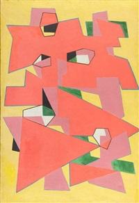 kompozycja abstrakcyjna by jozef jarema