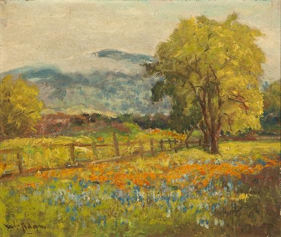 poppies and lupine, santa clara valley by william adam