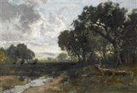 stream in a clearing by william keith