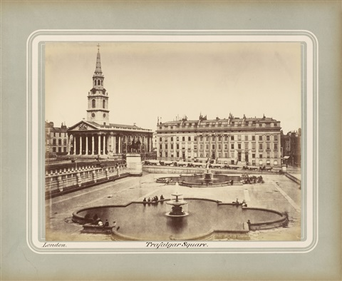trafalgar square london by roger fenton