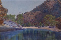 pool, ormiston gorge by rex battarbee
