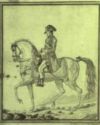 portrait du général bonaparte à cheval by auvrest