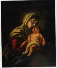 vierge à l'enfant by italian school-genoa (18)