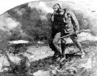 soldier helping wounded comrade by frederic a. anderson