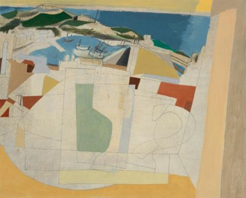 31 august (st. ives harbour, summer) by ben nicholson