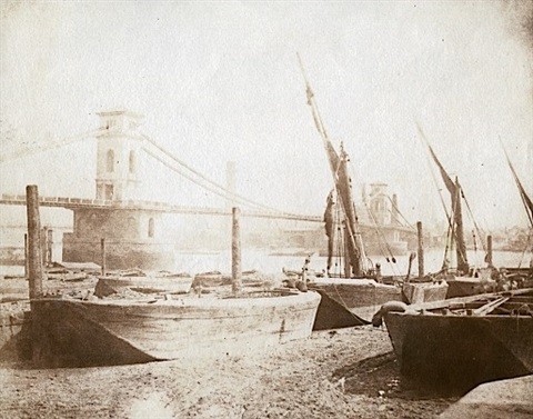 le pont dhungerford londres by william henry fox talbot