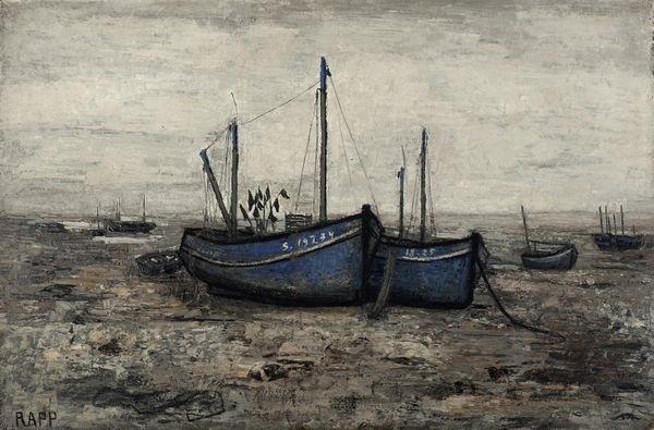 barques de pêches à marée basse by ginette rapp