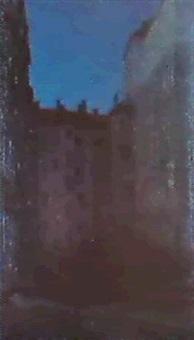 djupbla skymningshimmel by bjorn ahlgrenson