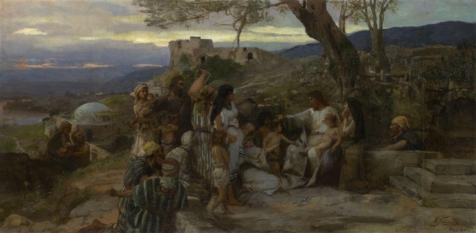 christ blessing the children by henryk siemiradzki