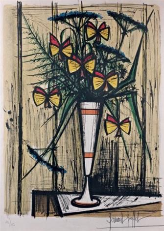 fleurs papillons by bernard buffet