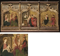 l'adoration des mages (+ 2 others, various sizes; set of 3) by french school (15)