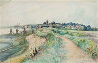 view of pagham by william ratcliffe