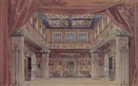 projet de décor de salle égyptienne by amable (amable-petit)