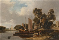 on the river yare, near norwich by george vincent